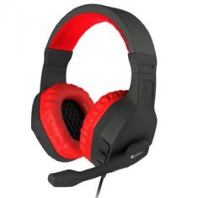 Auriculares con microfono genesis argon 200 gaming rojos mini jack 3.5mm x2 - Imagen 1
