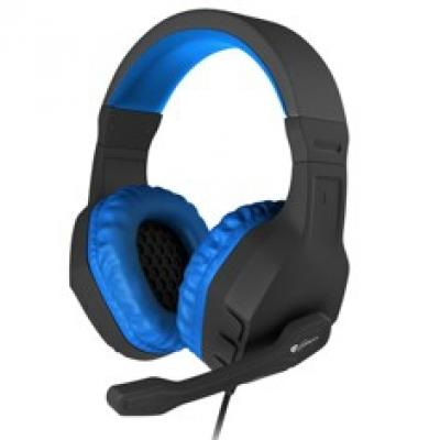 Auriculares con microfono genesis argon 200 gaming azules mini jack 3.5mm x2 - Imagen 1