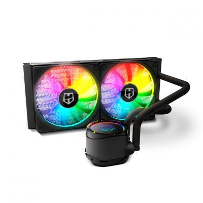 Kit refrigeracion liquida nox hummer h - 240 -  radiador doble -  argb - Imagen 1