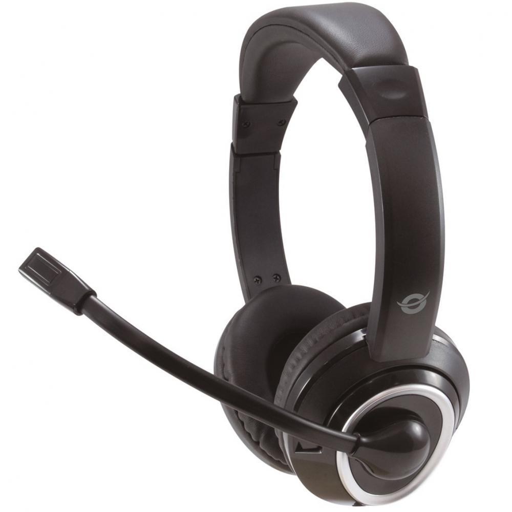 Auricular conceptronic polona02b  - jack 3.5mm - microfono - control volumen - Imagen 1