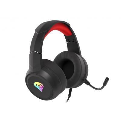 Auriculares gaming genesis neon 200 negro rojo rgb - Imagen 1