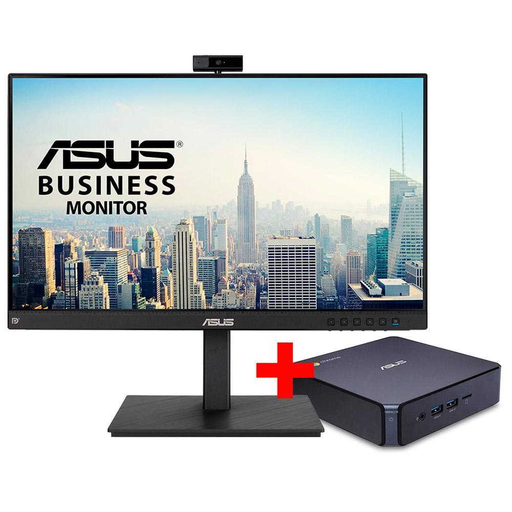 Bundle mini pc asus chromebox3 - n008u + monitor asus be24eqsk con webcam - Imagen 1