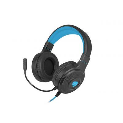 Auriculares gaming fury warhawk rgb negro - azul - Imagen 1