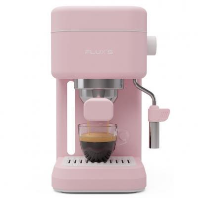 Cafetera expres flux´s rosa flamingo 1.5l roja - 1200w - 20bar - vaporizador de leche - bomba italiana  - 5 años garantia - fabr