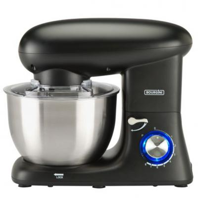 Amasadora bourgini kitchen chef plus 5.52l negra - Imagen 1