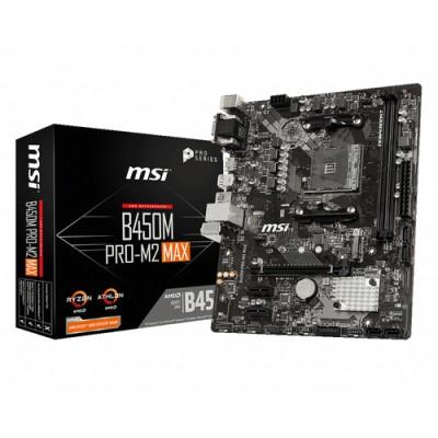 MSI B450M PRO-M2 MAX placa base Zócalo AM4 Micro ATX AMD B450 - Imagen 1