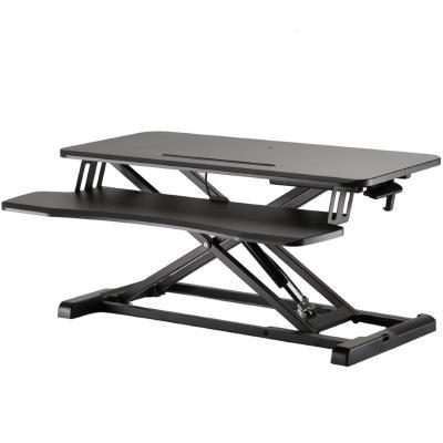 Stand de escritorio ewent ew1545 ajustable en altura y con bandeja para teclado - Imagen 1