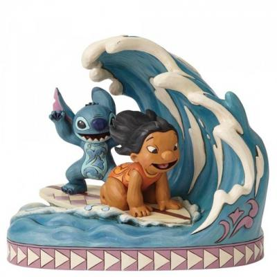 Figura enesco disney lilo & stitch lilo & stitch surfeando una ola - Imagen 1