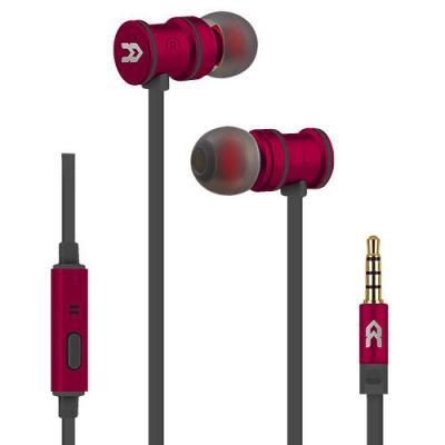 Auricular avenzo intraural imantado con microfono rojo - Imagen 1