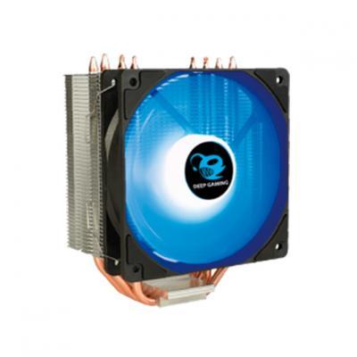 Ventilador disipador coolbox deep cyclone ii gaming. para intel y amd led azul - Imagen 5