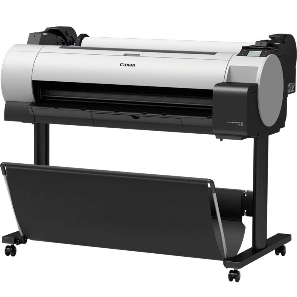 Plotter canon ta - 30 imageprograf a0 36pulgadas -  2400ppp -  usb -  red -  wifi -  diseño cad -  tinta 5 colores -  tactil 3pu