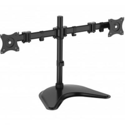 Soporte doble pantalla equip 13pulgadas -  27pulgadas inclinable giratorio 360º max 8 kg vesa max 100x100 - Imagen 3