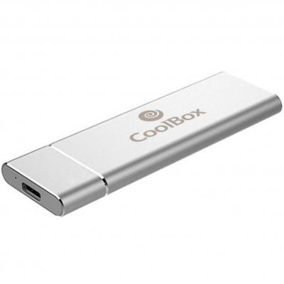 Mini carcasa disco duro - hdd - ssd coolbox coo - mcm - nvme nvme m.2 usb 3.1 gen usb tipo c 2 aluminio plata - Imagen 2
