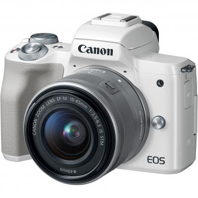 Camara digital reflex canon eos m50 m15 - 45 s -  cmos -  24.1mp -  digic 8 -  videos 4k -  wifi -  nfc -  bluetooth -  blanco -