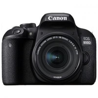 Camara digital reflex canon eos 800d 18 - 55 is stm new -  cmos -  24.2mp -  digic 7 -  45 puntos de enfoque -  wifi -  bluetoot