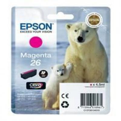 Cartucho tinta epson t261340 magenta photo 26 xp - 600 - 605 - 700 - 800 -  oso polar - Imagen 3