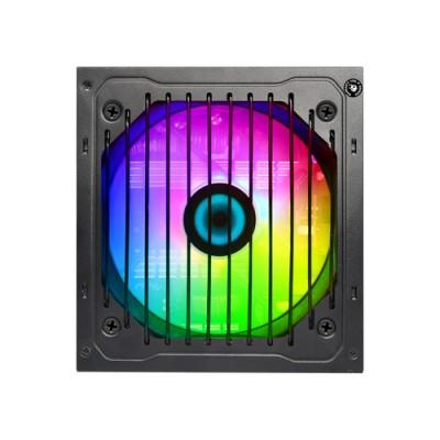 CoolBox DeepEnergy RGB600 unidad de fuente de alimentación 600 W 20+4 pin ATX ATX Negro - Imagen 3
