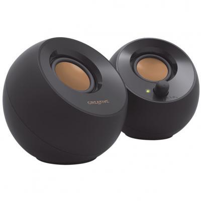 Altavoces creative pebble 2.0 speaker usb - negro - Imagen 1