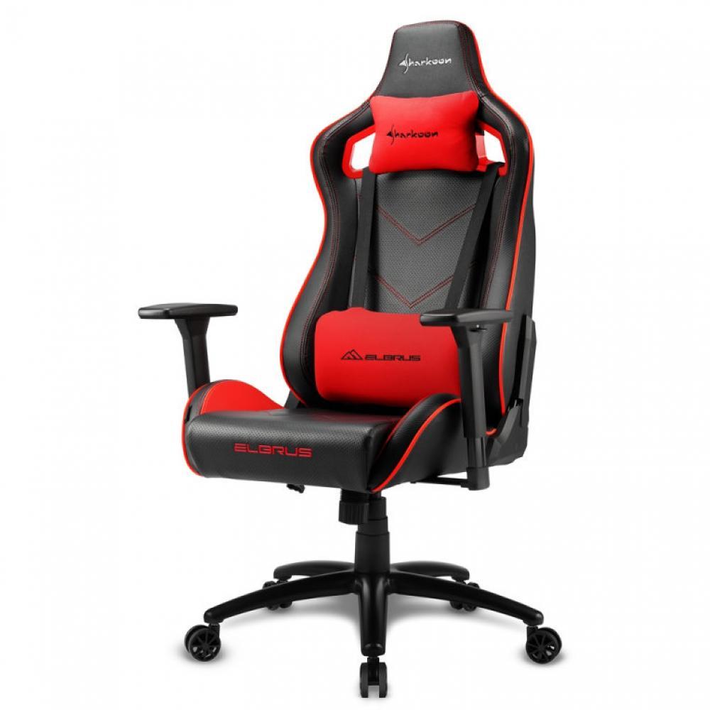 Silla gaming sharkoon elbrus 2 negro rojo 160g - Imagen 1