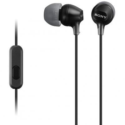 Auriculares sony mdr - ex15apb boton negro - microfono - Imagen 1