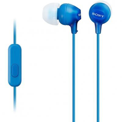 Auriculares sony mdr - ex15apb boton azul - microfono - Imagen 1