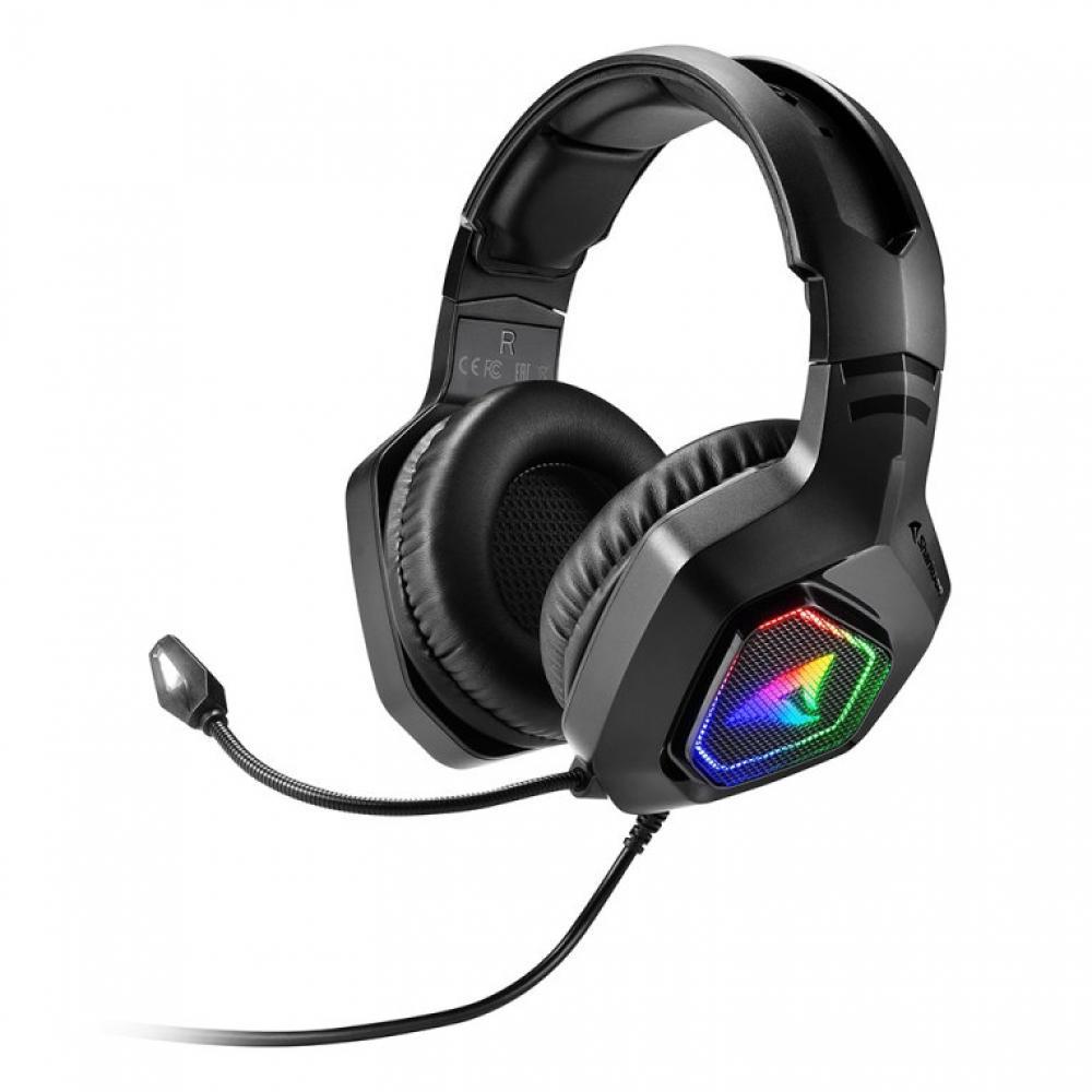 Auriculares gaming sharkoon rush er30 microfono alambrico rgb - Imagen 1