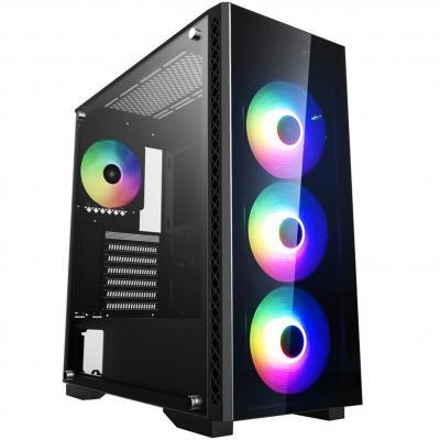 Caja ordenador gaming deepcool matrexx 55 add - rgb 4f e - atx - cristal templado - usb - negro - Imagen 1