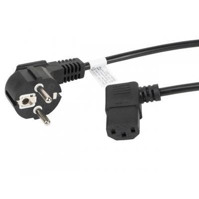 Cable de alimentacion lanberg schuko cee 7 - 7 a iec320 c13 acodado 1.8m - Imagen 1