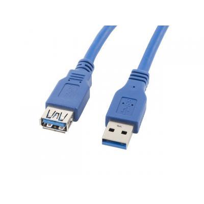 Cable alargador lanberg usb 3.0 macho hembra 1.8m azul - Imagen 1