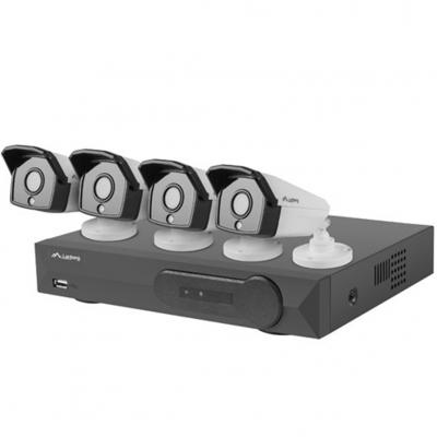 Kit videovigilancia lanberg 5mp nvr poe 4 camaras + 8 canales con accesorios - Imagen 1