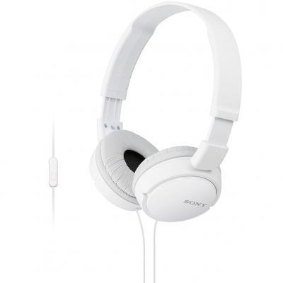 Auriculares sony mdrzx110apw - blanco - pleglable - microfono - Imagen 1