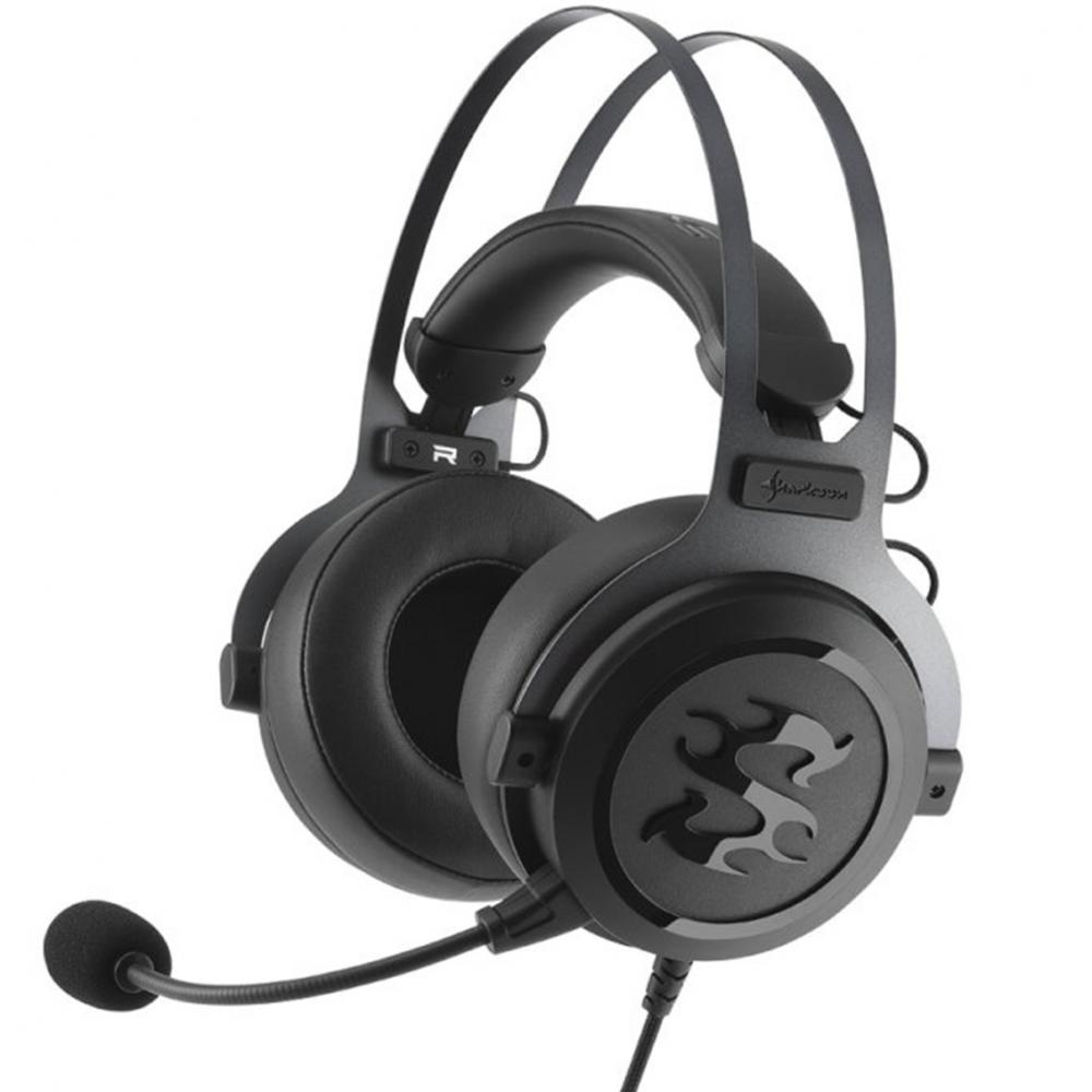 Auriculares gaming sharkoon skiller sgh3 negro microfono alambrico - Imagen 1