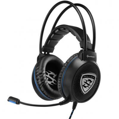 Auriculares gaming sharkoon skiller sgh1 negro microfono alambrico - Imagen 1