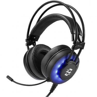 Auriculares gaming sharkoon skiller sgh2 negro microfono alambrico led - Imagen 1