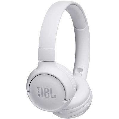 Auriculares bluetooth jbl jblt500btwht - pure bass - ligero - plegable -  manos libres - diadema - 16 horas de bateria - blanco
