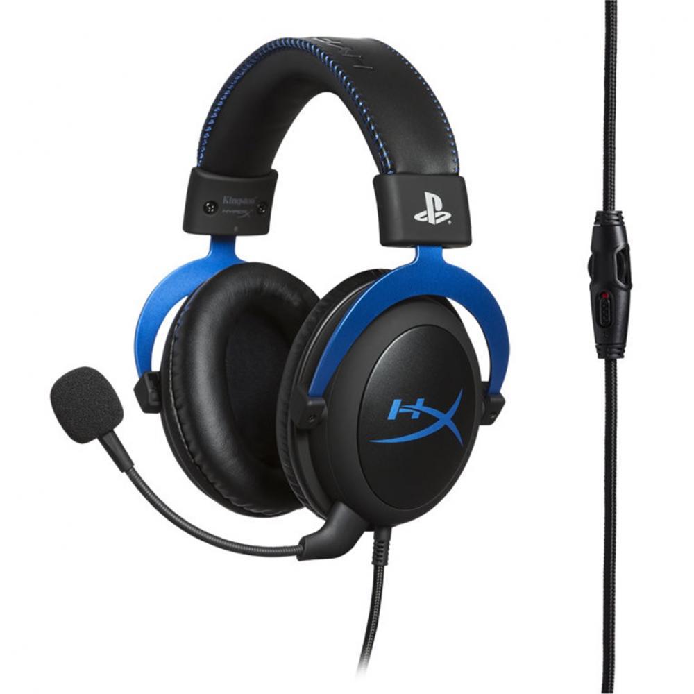 Auriculares gaming hyperx cloud ps4 azul - Imagen 1