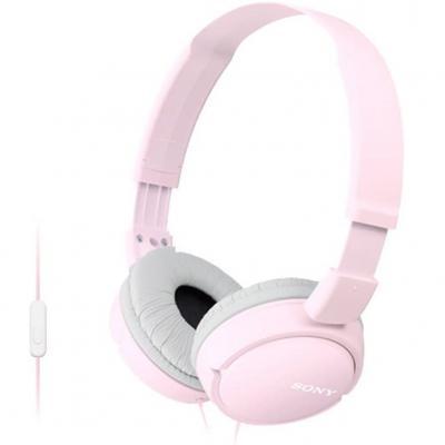 Auriculares sony mdrzx110app - rosa - pleglable - microfono - Imagen 1