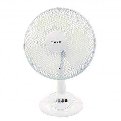 Ventilador de mesa nevir nvr - vm30 - bt 30cm -  33w -  3 velocidades -  aspas blancas - Imagen 1