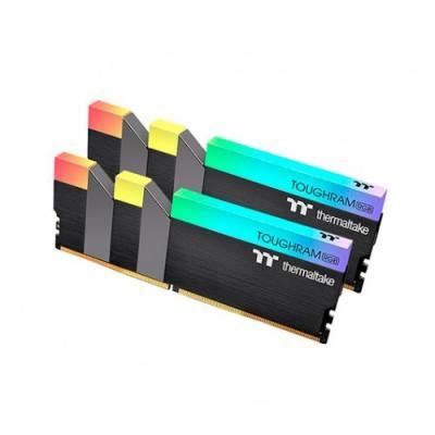Memoria ddr4 16g 2x8g pc3200 thermaltake toughram n negro -  rgb -  cl16 1.35v - Imagen 1