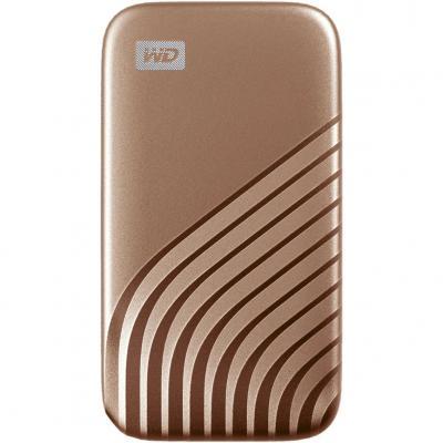 Disco duro externo hdd wd western digital 500gb my passport ssd usb tipo c gold - Imagen 1