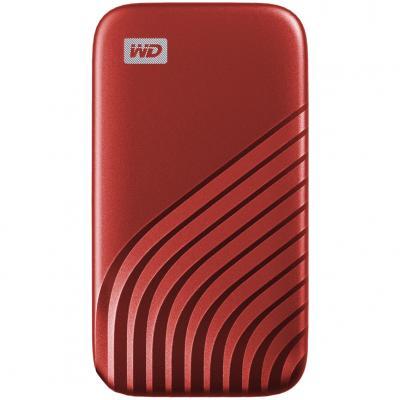 Disco duro externo hdd wd western digital 1tb my passport ssd usb tipo c red - Imagen 1