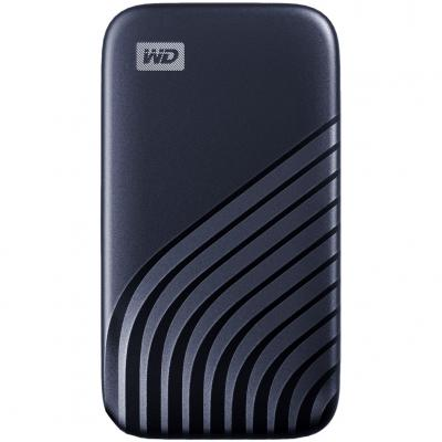 Disco duro externo hdd wd western digital 1tb my passport ssd usb tipo c blue - Imagen 1