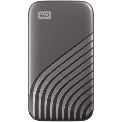 Disco duro externo hdd wd western digital 500gb my passport ssd usb tipo c gris - Imagen 1