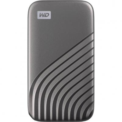 Disco duro externo hdd wd western digital 2tb my passport ssd usb tipo c gris - Imagen 1