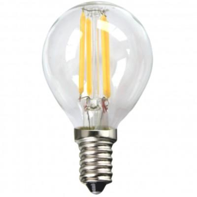 Bombilla led silver electronic filamento transparente esferica 4w=80w -  e14 -  3000k luz calida -  a++ - Imagen 1