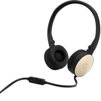Auriculares con microfono hp stereo headset h2800 negro - oro - Imagen 1