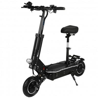 Patinete scooter hoverboard diablo electrico skateflash sk urban negro ruedas 10pulgadas bateria 26a motor 1000wx2 30km - h + as