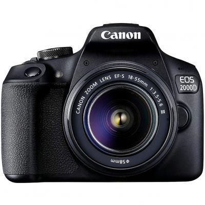 Camara digital canon eos 2000d bk 18 - 55mm is eu26+ -  24.1mp -  digic 4+ -  full hd -  wifi - Imagen 1