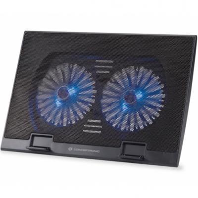 Base refrigeracion conceptronic para portatiles 2 ventiladores 125mm hasta 17pulgadas - Imagen 1