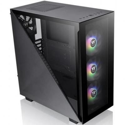Caja ordenador torre atx thermaltake divider 300tg argb negro cristal templado -  ventilador argb: 3x120mm front - Imagen 1